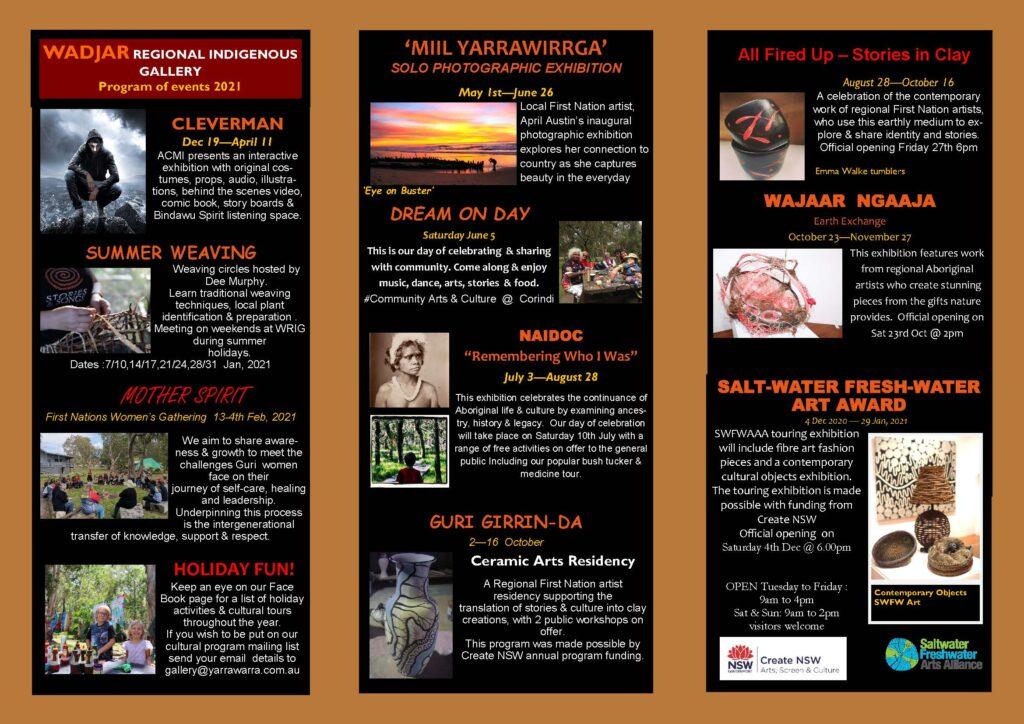 Yarrawarra Aboriginal Cultural Centre Exhibition Program 2021