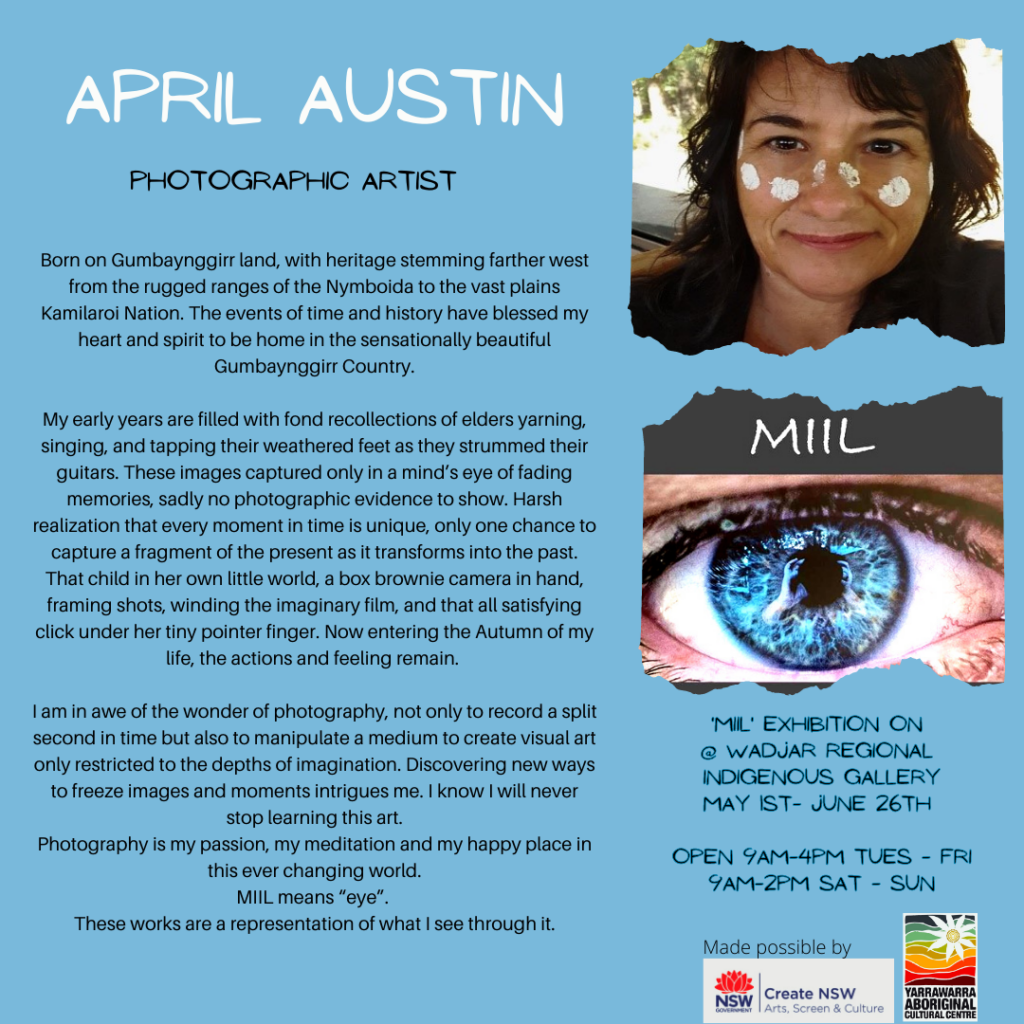 April Austin Photographic Exhibition now on at Wadjar Regional Indigenous Gallery
