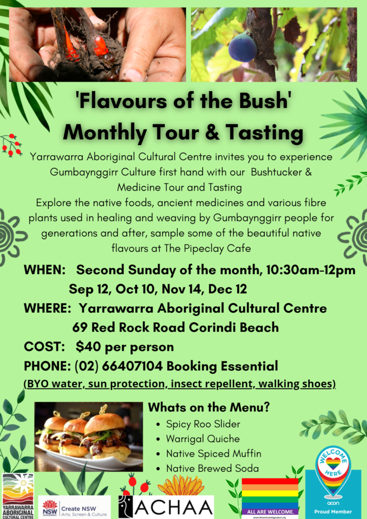 Monthly Bush Tucker and Medicine Tour & Tasting @ Yarrawarra Aboriginal Cultural Centre
