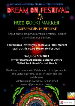 Goori Market at Dream On Festival June 5th