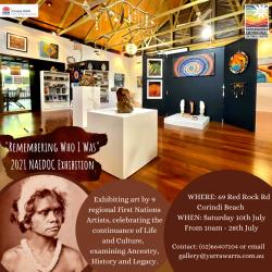 Remembering Who I Was NAIDOC Exhibition at Wadjar Regional Indigenous Gallery, Yarrawarra Aboriginal Cultural Centre